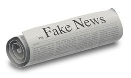 The Fake News newspaper Royalty Free Stock Photography