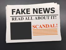 Fake news newspaper Royalty Free Stock Photo