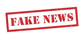 Fake news red stamp Stock Photography