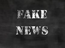 Fake news round stamp Stock Photos