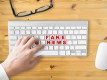 Fake News social sharing. Royalty Free Stock Photography