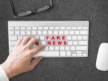 Fake News social sharing. Royalty Free Stock Photos