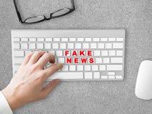 Fake News social sharing. Stock Photos