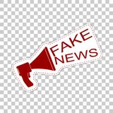 Fake news.  Sticker badge with megaphone icon. Royalty Free Stock Photography