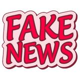 Fake news sticker retro speech balloon, fake news label, pop art Stock Photos