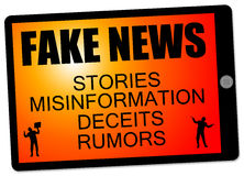 Fake news stories vector illustration