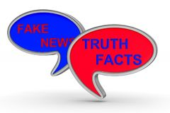Fake news. talk balloon on white background. Isolated 3D illustr. Ation Stock Images