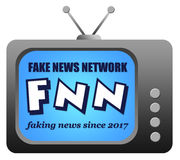 Fake news television. Fake news network on television Royalty Free Stock Photo