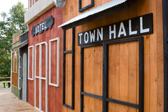 Fake Old-time Western Building Fronts (Movie Set). A Fake Old-time Western Building Front Royalty Free Stock Photography