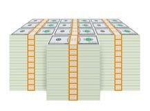 Fake One Million Dollar Stack (Isolated) Stock Image