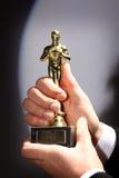 Fake Oscar prize stock photos