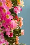 Fake pink flowers. Stock Photos