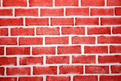 Fake red brick background Royalty Free Stock Photography