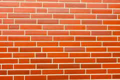 Fake red brick wall siding Stock Photos