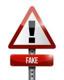 Fake road sign illustration design Stock Images