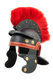Fake Roman legionary helmet. On a white background Royalty Free Stock Images