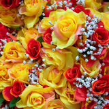 Fake roses bunch Stock Photos
