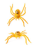 Fake rubber spider toy isolated Royalty Free Stock Photography
