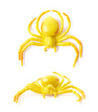 Fake rubber spider toy isolated Stock Images