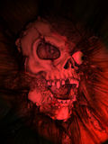 Fake Skull. With red light for special effect Royalty Free Stock Images