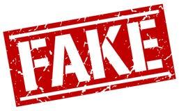 Fake square grunge stamp. Fake square grunge red stamp Royalty Free Stock Photo