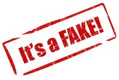 Fake stamp royalty free illustration