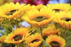Fake sunflowers Royalty Free Stock Image