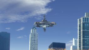 Fake UFO Sighting In Chicago Royalty Free Stock Photos