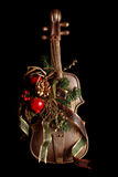 Fake violin xmas ornament Royalty Free Stock Image