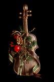 Fake violin xmas ornament Royalty Free Stock Image
