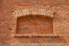 Fake Window. In a brick wall for backgrounds Royalty Free Stock Images