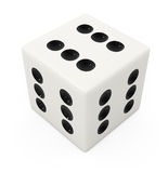 Fake winning white bone for dice game Stock Photography