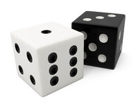 Fake winning white bone for dice game Royalty Free Stock Images