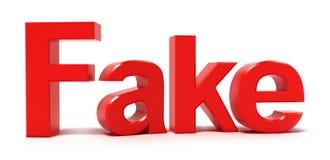 Fake word. Isolated on white Stock Photos