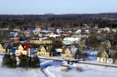 Faked tilt shift city Royalty Free Stock Photos
