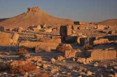 Fakhr-al-Din al-Maani Castle. Fakhr-al-Din al-Ma'ani Castle or Palmyra Castle is a castle on a high hill overlooking the site of Palmyra, and named for the Druze Royalty Free Stock Photography