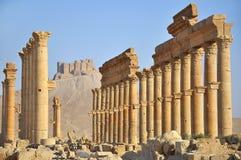 Fakhr-al-Din al-Maani Castle above Palmira ruins Royalty Free Stock Photography