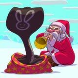 Fakir il Babbo Natale Fotografie Stock