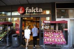FAKTA食品店 库存照片