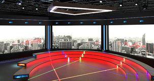 Faktisk bakgrund 6 för uppsättning 2 för TVstudiopratstund arkivfoton
