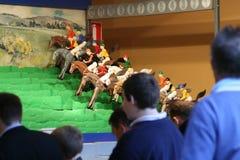 faktisk hästkapplöpning Fotografering för Bildbyråer