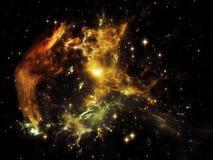 Faktisk krabbanebulosa Arkivfoton