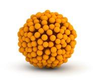 faktisk orange sphere för spjällåda Royaltyfri Foto