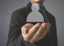 Faktisk symbol för handhandlag av det sociala nätverket Royaltyfri Fotografi