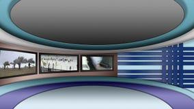Faktisk uppsättningbakgrund för television för nyhetsredaktion stock video