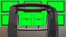 Faktisk uppsättning för HD-TVstudio Arkivfoto