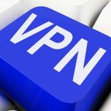 Faktiskt privat nätverk för VPN tangentmedel Arkivbild