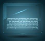 Faktiskt tangentbord Arkivfoto