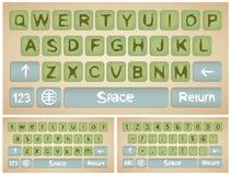 Faktiskt tangentbord för smartphone Arkivfoton