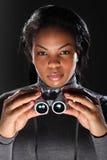 faktorskich lornetek żeński mienia sekretu szpieg Obraz Royalty Free